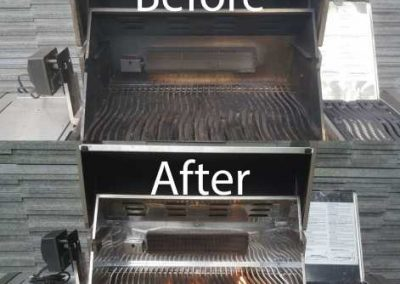 Bafore And After BBQ Tray Cleaning