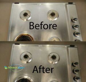 Before & After Stove Cleaning