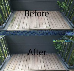Before And After Balcony Cleaning