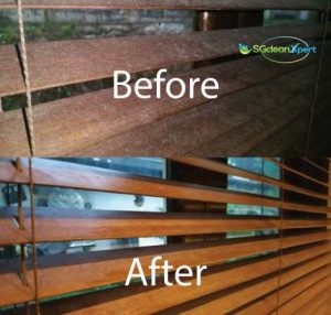 Before And After Blinds Cleaning