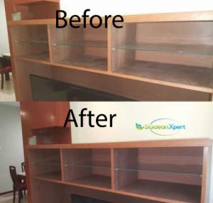 Before And After Cabinet Cleaning