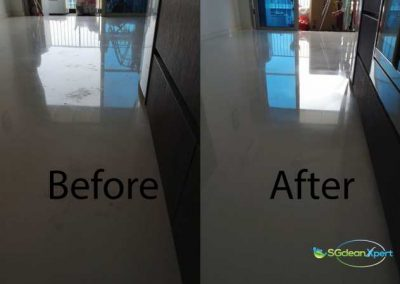 Before & After Etched Marble Floor Restoration