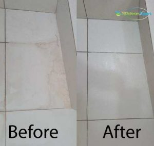 Before And After Floor Scrubbing