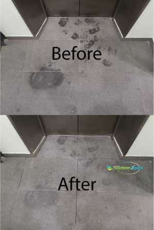 Before & After Granite Oil Stain Removal