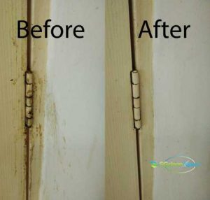 Before & After Door Frame Cleaning