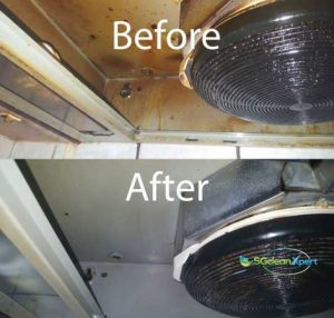 Before & After Kitchen Hood Cleaning