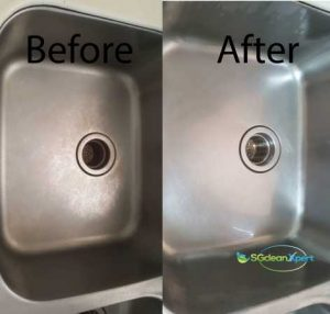 Before & After Kitchen Basin Cleaning