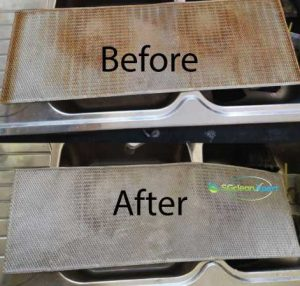 Before And After Kitchen Hood Filter Cleaning