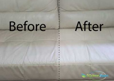 Before And After Leather Sofa Cleaning