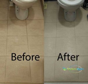 Before And After Tiles Scrubbing