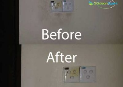 Before & After Wall Cleaning