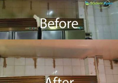 Before And After Commercial Kitchen Wall Degrease