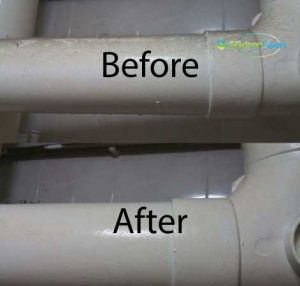 Before & After Toilet Pipe Dusting