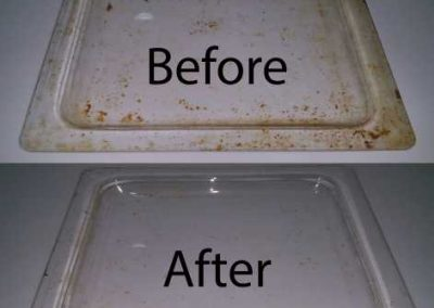 Before And After Oven Tray Cleaning