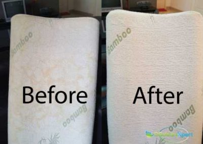 Before And After Pillow Cleaning