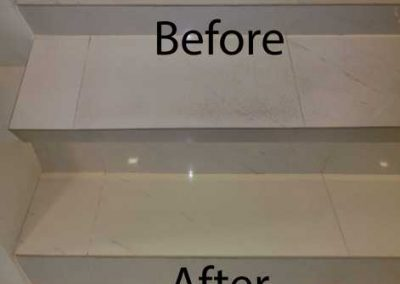 Before And After Stair Cleaning