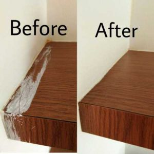 Before And After Table Cleaning
