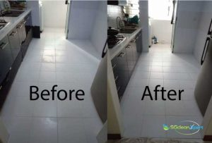 Before And After Tiles Polishing Service