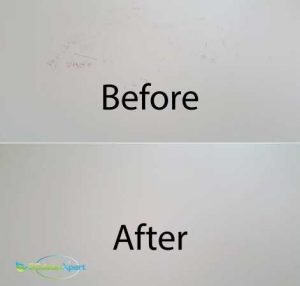 Before And After Wall Cleaning
