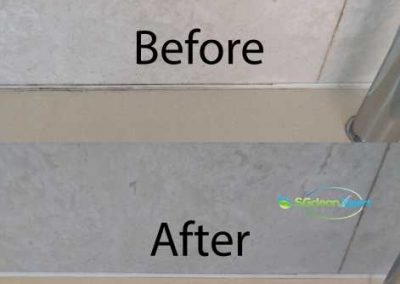 Before & After Bathtub Mold Cleaning