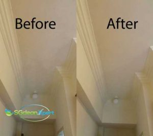 Before And After Ceiling Mold Clean