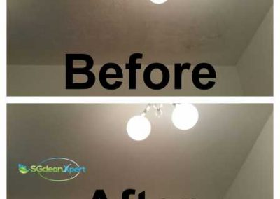 Before And After Ceiling Mold Cleaning