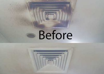 Before & After Aircon Vent Cover Cleaning