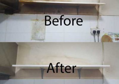 Before & After Kitchen Cleaning