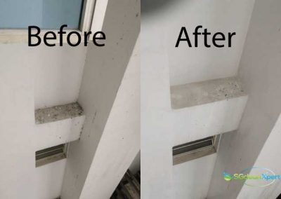 Before & After Aircon Ledge Cleaning