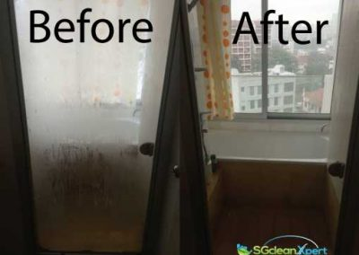 Before & After Glass Cleaning