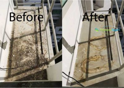 Before And After Aircon Ledge Cleaning