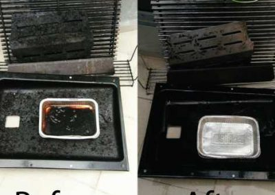 Before And After BBQ Tray Cleaning