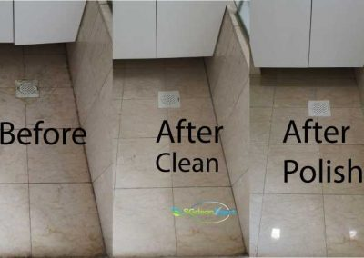 Before And After Floor Cleaning And Floor Polish