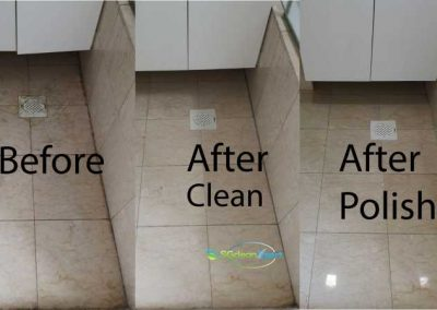Before And After Floor Cleaning And Polish