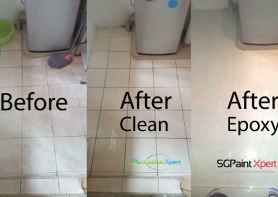 Before And After Floor Cleaning + Epoxy