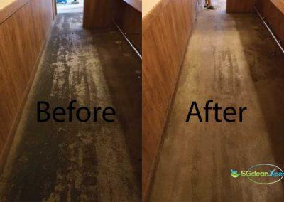 Before & After Machine Floor Scrubbing