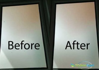 Before And After Glass Cleaning