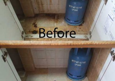 Before & After Kitchen Cabinet Cleaning