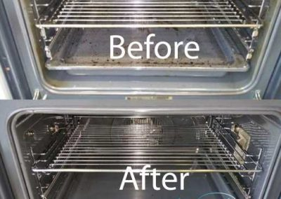 Before & After Oven Cleaning