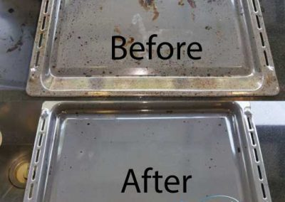 Before & After Oven Tray Cleaning