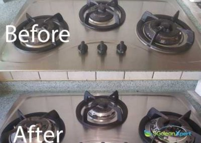 Before & After Kitchen Stove Cleaning