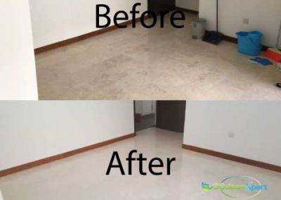 Before & After Marble Floor Polishing