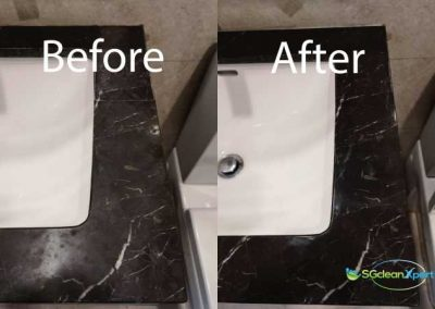 Before & After Vanity Top Marble Polishing