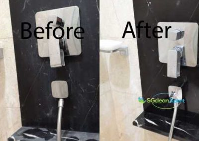Before & After Shower Area Marble Polishing