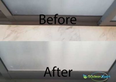 Before & After Floor Cleaning
