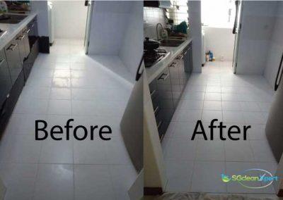 Before & After Etched Tile Floor Restoration