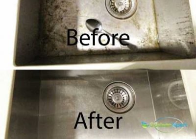 Before & After Basin Cleaning