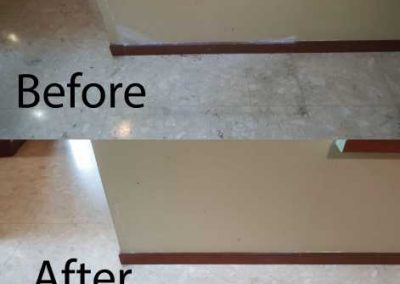 Before And After Wall And Floor Cleaning
