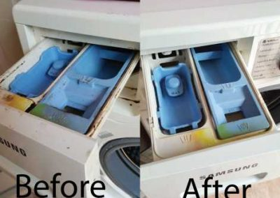 Before And After Washing Machine Cleaning