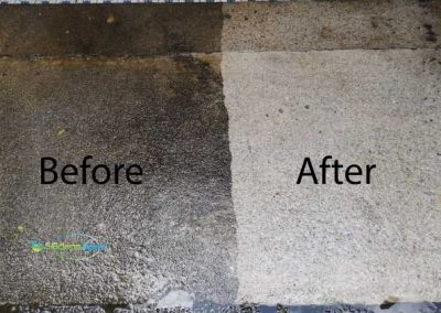 Before And After Water Jet Floor Cleaning